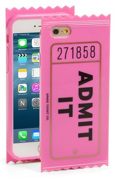 Absolutely in love with this adorable phone case from Kate Spade. Made to mimic a movie ticket, it's made of flexible silicone to ensure protection.