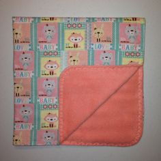 Flannel and Fleece Receiving Blanket by ItsStitchinTime on Etsy