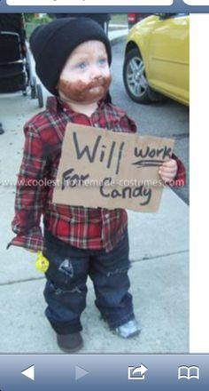Baby bum! Genius and funny costume!