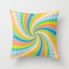 Colour Mix Spiral #3 Throw Pillow by Ornaart - $20.00