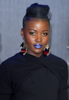 Who could ever forget Lupita Nyong'o's metallic blue lipstick?