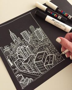 """10.7k Likes, 70 Comments - Phoebe Atkey (@phoebeatkey) on Instagram: """"1/4 #art #drawing #pen #pencil #sketch #illustration #linedrawing #architecture…"""""""