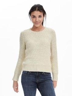 Banana Republic Stitch Crew Pullover [Purchased]