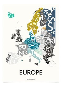 EUROPE - SPECIAL EDITION - 50x70 CM