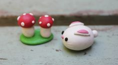 super cute kawaii fimo creatures to make with the girls!