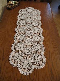 White round doily 35 inch Big crochet doily Lace crochet doily by GalinaDolia, $60.00 USD