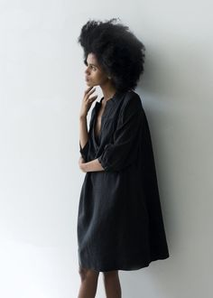 The Sabine | Black Linen