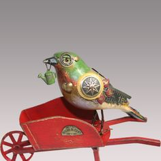 bird on a barrow