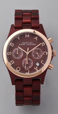 Marc by Marc Jacobs Large Henry Aluminum Watch - StyleSays