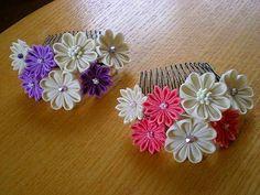 今日もまた、小花いっぱいのコームを作りました!最近、コーム作りに、ちょこっとはまっております。