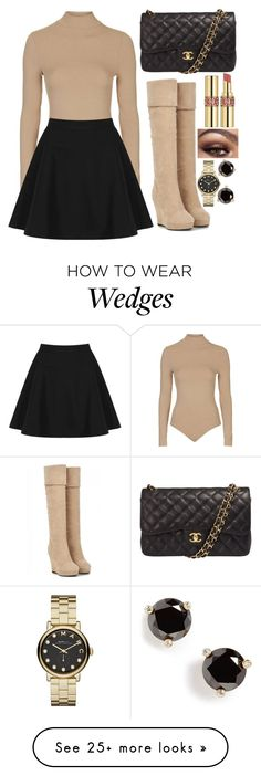 """""""Untitled #320"""" by leahgomezanderson on Polyvore featuring Topshop, Chanel, Yves Saint Laurent, Marc by Marc Jacobs and Kate Spade"""