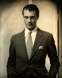 Gary Cooper photographed by Edward Steichen.