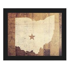 Click Wall Art 'Ohio Rustic' Framed Graphic Art