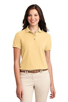 Port Authority Womens Silk Touch Polo 5XL Banana *** To view further for this item, visit the image link.(This is an Amazon affiliate link and I receive a commission for the sales) #WomensTopsandTees
