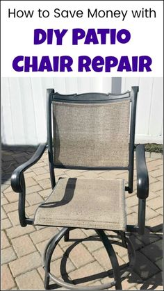 See how to save a ton of money with DIY patio chair repair. Before you buy new patio furniture because of separated chairs see how to repair patio chairs and save yourself the expense. Outdoor furniture repair will basically always cost less than new patio furniture. #diypatiochairrepair #patiochairrepair #outdoorfurniturerepair