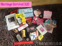 The marriage survival kit I put together for my best BM with help from our friends!