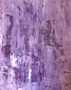 Abstract Art Painting Purple, Lavender and White