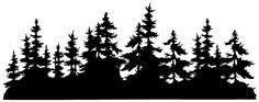 Tim Holtz Wood Mounted Stamp - Small Tree Line U5-2671