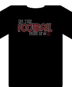 Football Mom shirt  on Etsy, $20.00