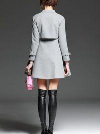 Zipper Bow Mini Dress