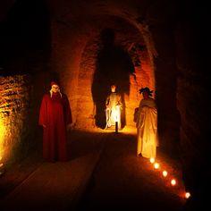 Dante a Camerano, inferno nelle grotte