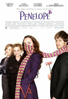 Penelope starring Christina Ricci, James McAvoy and Reese Witherspoon. One of my Favorite Movies, loved the music too. Hd Movies, Movies To Watch, Movies Online, Teen Movies, Family Movies, Christina Ricci, James Mcavoy, Film Music Books, Music Tv