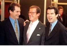 Timothy Dalton, Roger Moore και Pierce Brosnan 1996