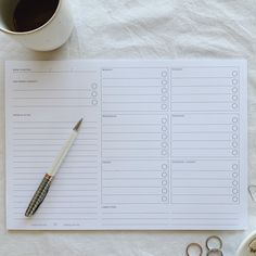 """Luxury elegant stationery 🤍 on Instagram: """"Need to structure your week? Our weekly overview desk planner has 50 undated pages to get you through the year 🗓 ⠀⠀⠀⠀⠀⠀⠀⠀⠀ ⠀⠀⠀⠀⠀⠀⠀⠀⠀ Our…"""" Shops, Stationery Shop, Core Collection, Bullet Journal, How To Plan, Elegant, Luxury, Desk, Prints"""