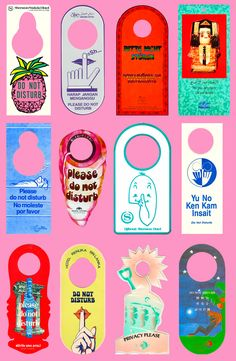 Do Not Disturb: A brilliant collection of 'Do Not Disturb' signs from around the globe, more here