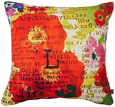 DENY Designs Irena Orlov Poppy Poetry 3 Throw Pillow 18 x 18