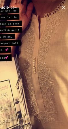 Salwar Neck Designs, Kurta Neck Design, Neck Designs For Suits, Sleeves Designs For Dresses, Neckline Designs, Kurta Designs Women, Dress Neck Designs, Pakistani Fashion Party Wear, Indian Fashion Dresses