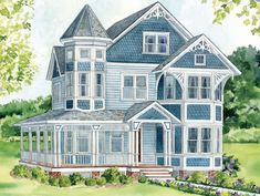 Painting the exterior of a queen anne victorian | Queen Anne Home style