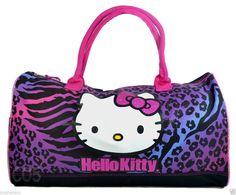 3d7f28a128ce Hello Kitty Rainbow Animal Print Duffel bag Gym overnight ballet Travel Bag.