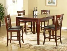 5 Pcs 42x42 Counter Height Table with 4 Stool Set by Owlbehome, http://www.amazon.com/dp/B001CERVUU/ref=cm_sw_r_pi_dp_6Sd1rb0P5B5J6