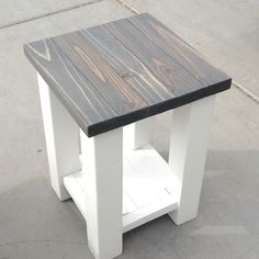 Rustic Handcrafted Farmhouse End Table. Finished with a beautiful w...                                                                                                                                                                                 More