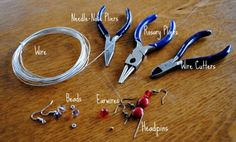 How to make drop earrings - supplies