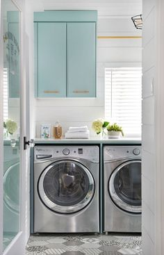 laundry room by Soda Pop Design Inc.