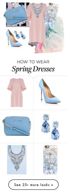 """Untitled #28"" by caraonelove on Polyvore featuring Valentino, MICHAEL Michael Kors, Casadei, Casetify, Kate Spade and Boohoo"