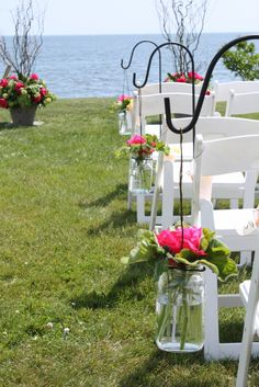 pink and lime green wedding | ... floral design: Watermelon Pink, Lime Green and Yellow Seaside Wedding