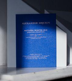 Fashion week A/W 2013 invitation : Alexander Mqueen