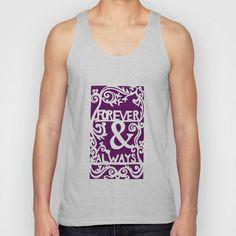 Forever & Always - Purple Unisex Tank Top by Rachel Winkelman - $22.00