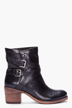 Belle Sigerson Morrison Black Ashlin Ankle Boots-I want these in vegan!
