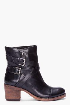 Belle Sigerson Morrison Black Ashlin Ankle Boots