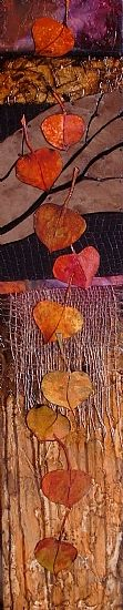 """""""AUTUMN SONG"""" 10163 by Carol Nelson Mixed ~ 36 x 7"""