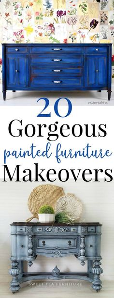 20 Furniture Makeovers That Will Blow Your Mind! - Just Life And Coffee This is the most stunning roundup of 20 furniture makeovers done by the most creative and talented furniture artists out there! Loft Furniture, Diy Furniture Projects, Refurbished Furniture, Repurposed Furniture, Furniture Makeover, Painted Furniture, Furniture Refinishing, Kitchen Furniture, Luxury Furniture