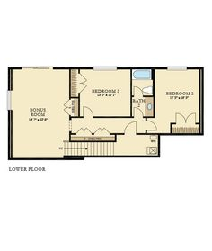 DUBLIN New Home Plan in Breckenridge by Lennar. Lower floor (daylight basement)