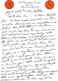 A love letter to Elvis' girlfriend, Anita Wood, in 1958, while stationed in Germany.