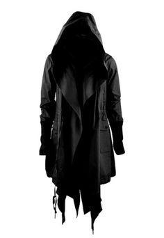 Black coat, cowl peacoat - not really a hood fan, but this I like