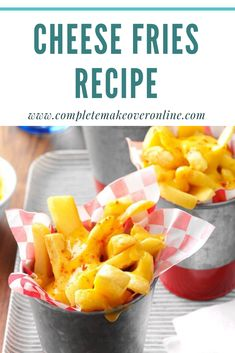 I came up with this recipe after my friend had cheese fries at a restaurant and couldn't stop talking about them. Plus, the frozen fry packets can be refrigerated and reheated. Healthy Vegan Snacks, Healthy Eating, Healthy Recipes, Easy Homemade Recipes, Homemade Food, French Fries Recipe, Cheese Fries, Weeknight Meals, Going Vegan
