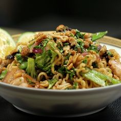 Instant ramen is just the base for this fantastic chicken stir fry.